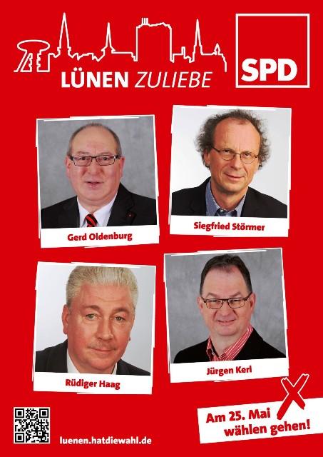 Kandidaten des SPD-Ortsvereins Lünen-Stadt für Kommunal- und Kreistagswahl 2014