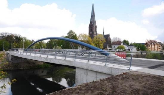 Die Lippe-Brücke an der Graf-Adolf-Straße soll am Dienstag, 3. Mai, offiziell eröffnet werden. _ Foto: Fröhling